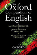 The Oxford Compendium of English