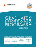 Graduate   Professional Programs  An Overview 2021