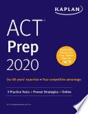ACT Prep 2020 Book