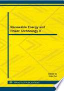 Renewable Energy and Power Technology II
