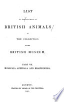 List Of The Specimens Of The British Animals In The Collection Of The British Museum Mollusca Acephala And Brachiopoda By J E Gray 1851