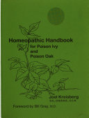 Homeopathic Handbook for Poison Ivy and Poison Oak