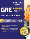 GRE Premier 2017 with 6 Practice Tests  : Online + Book + Videos + Mobile