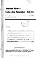 Bulletin   American Railway Engineering Association