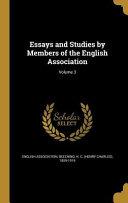 Essays Studies By Members Of
