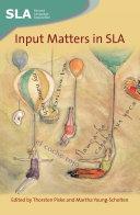 Input Matters in SLA Pdf/ePub eBook