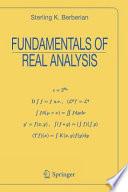Fundamentals of Real Analysis