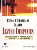 Ready Reckoner of Leading Listed Companies