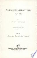 American Literature 1607-1885