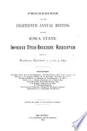 Proceedings of the     Annual Meeting of the Iowa State Improved Stock Breeders  Association