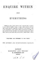 Enquire within upon everything  by R K  Philp  Wanting sheet L