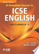 A Complete Course In ICSE Eng. IX And X