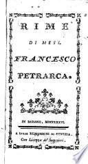 Rime di Mess. Francesco Petrarca