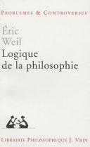 Logique de la philosophie