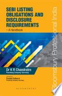 Sebi Listing Obligations And Disclosure Requirements A Handbook Book