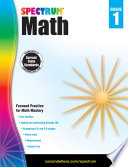 Spectrum Math Workbook  Grade 1