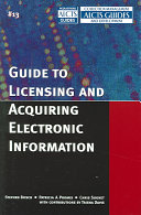 Guide to Licensing and Acquiring Electronic Information