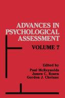 Advances in Psychological Assessment
