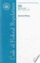 Code Of Federal Regulations Title 32 National Defense Pt 191 399 Revised As Of July 1 2010