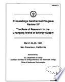Proceedings Geothermal Program Review XV