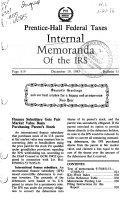Internal Memoranda of the IRS