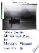 Martha s Vineyard Water Quality Plan Book