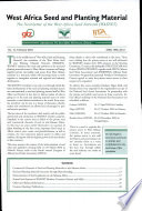 West Africa Seed and Planting Material: the newsletter of the West Africa Seed Network (WASNET); 12