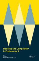 Modeling and Computation in Engineering III