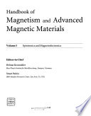 Handbook of Magnetism and Advanced Magnetic Materials: Spintronics and magnetoelectronics