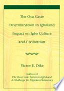 The Osu Caste Discrimination in Igboland