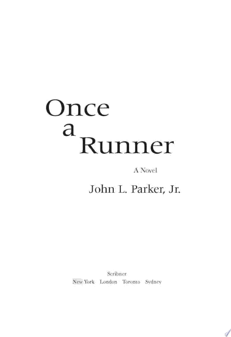Once a Runner image