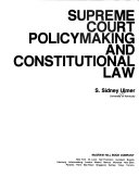 Supreme Court Policymaking And Constitutional Law