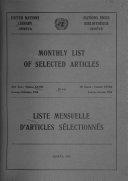 Liste mensuelle d'articles sélectionnés