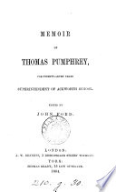 Memoir of Thomas Pumphrey  ed  by J  Ford Book PDF