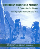 Functions Modeling Change  Student Solutions Manual