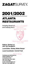 Atlanta Restaurant Survey, 2001-2002