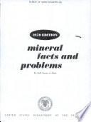 Mineral Facts And Problems Book PDF