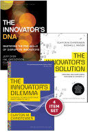 """Disruptive Innovation: The Christensen Collection (The Innovator's Dilemma, The Innovator's Solution, The Innovator's DNA, and Harvard Business Review article """"How Will You Measure Your Life?"""") (4 Items)"""