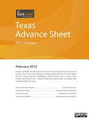 Texas Advance Sheet February 2012