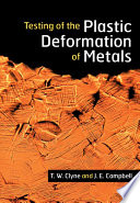 Testing of the Plastic Deformation of Metals