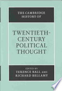The Cambridge History Of Twentieth Century Political Thought