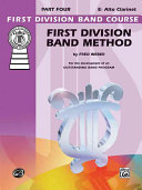 First Division Band Method, Part 4: E-Flat Alto Clarinet
