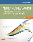 Study Guide for Nursing Research   E Book