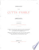 Genealogy of the Cutts Family in America