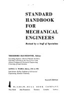 Standard Handbook for Mechanical Engineers