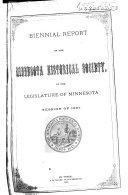 Biennial Report of the Minnesota Historical Society  of the Legislature of Minnesota