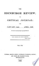 The Edinburgh Review  or Critical Journal  for January  1859    April  1859