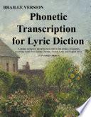 Phonetic Transcription for Braille Readers