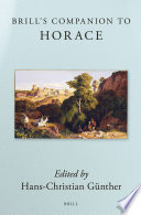 Brill's Companion to Horace