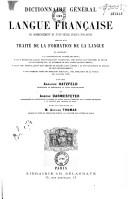 Dictionnaire général de la langue française du commencement du XVIIe siècle jusqu'à nos jours